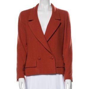Chanel 1998 orange tweed coat